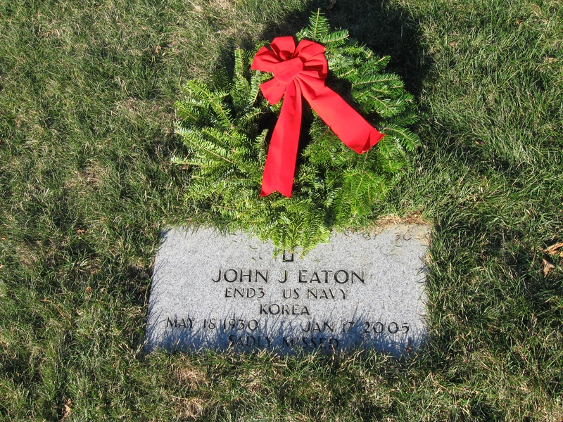 Author relative, National Cemetery, Bourne, MA Wreaths Across America 2009