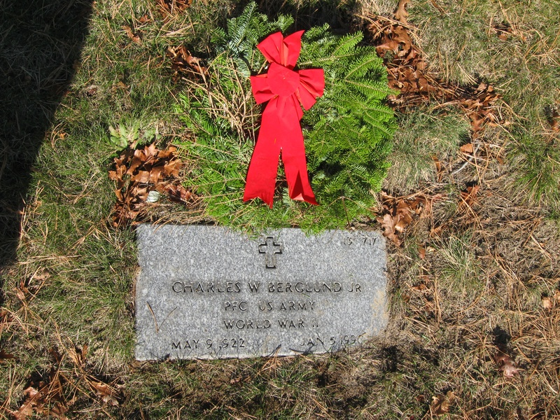 Author relative, National Cemetery, Bourne, MA Wreaths Across America 2009